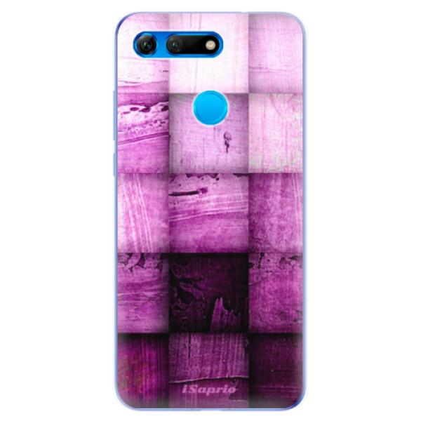 Odolné silikonové pouzdro iSaprio - Purple Squares - Huawei Honor View 20