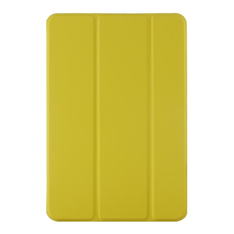 Kožený kryt / pouzdro iSaprio pro iPad Mini 4 žlutý
