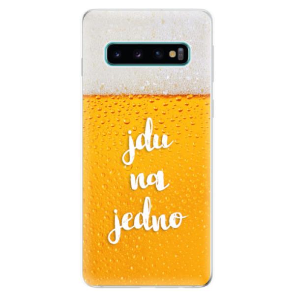 Odolné silikonové pouzdro iSaprio - Jdu na jedno - Samsung Galaxy S10