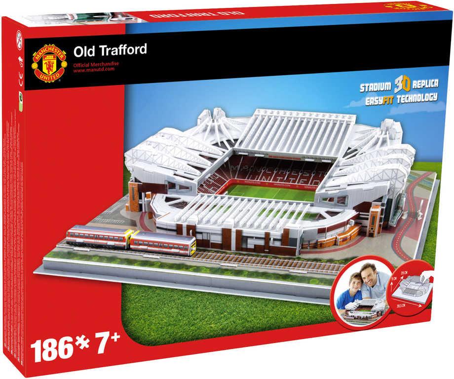 NANOSTAD 3D Puzzle model fotbalový stadion Manchester United anglie 186 dílků