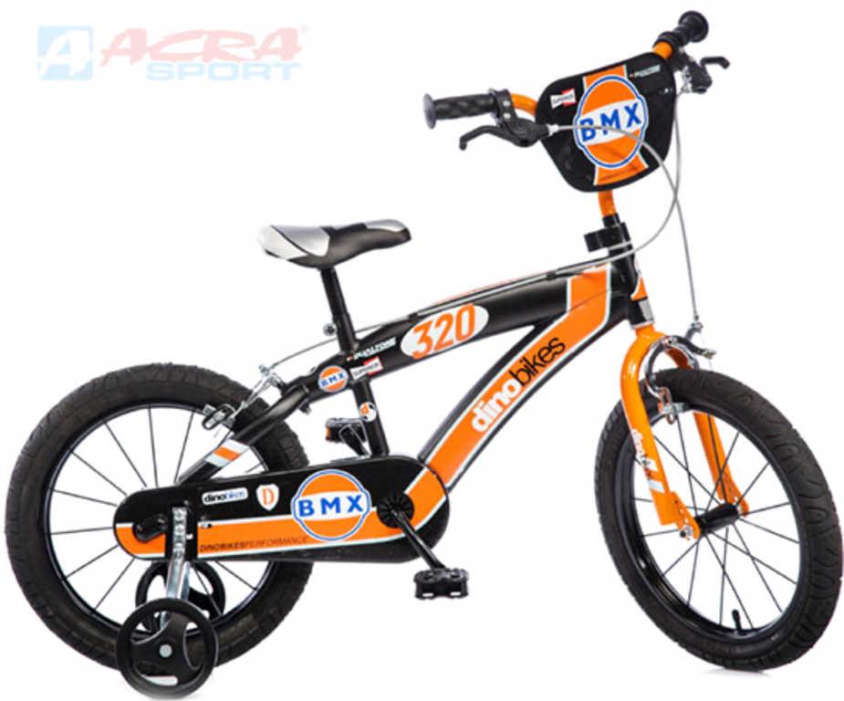 ACRA Dětské kolo Dino BMX 165 černé 16