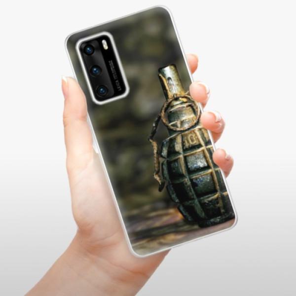Odolné silikonové pouzdro iSaprio - Grenade - Huawei P40