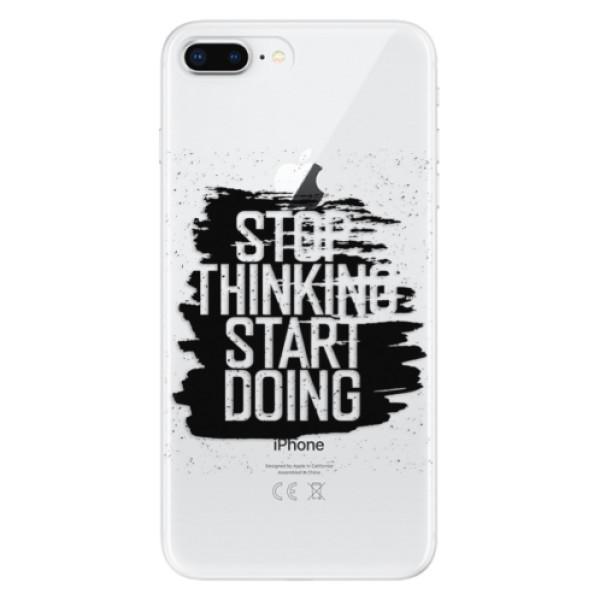 Odolné silikonové pouzdro iSaprio - Start Doing - black - iPhone 8 Plus