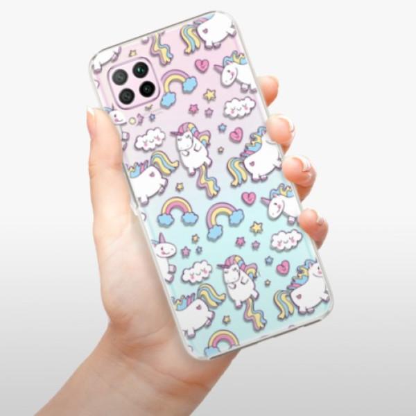 Plastové pouzdro iSaprio - Unicorn pattern 02 - Huawei P40 Lite