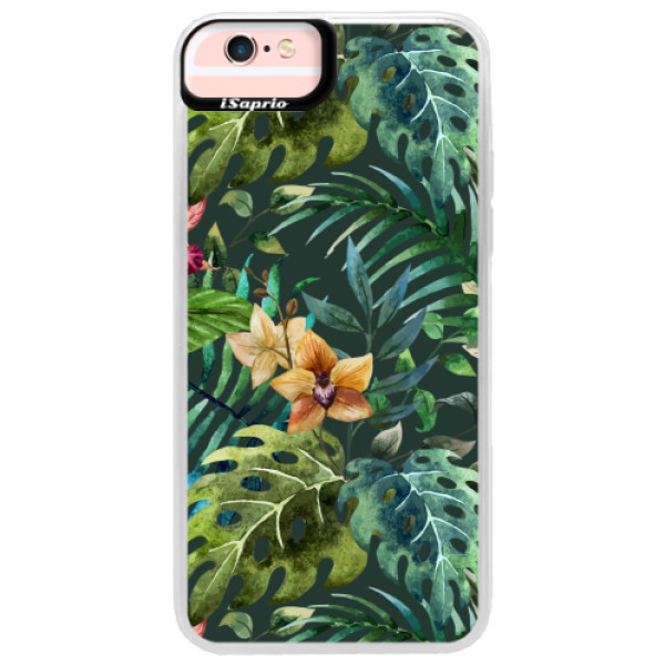 Neonové pouzdro Pink iSaprio - Tropical Green 02 - iPhone 6 Plus/6S Plus
