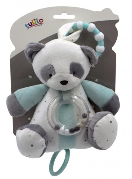 tulilo-zavesna-plysova-hracka-s-chrastitkem-medvidek-panda-18-cm-tyrkysovy
