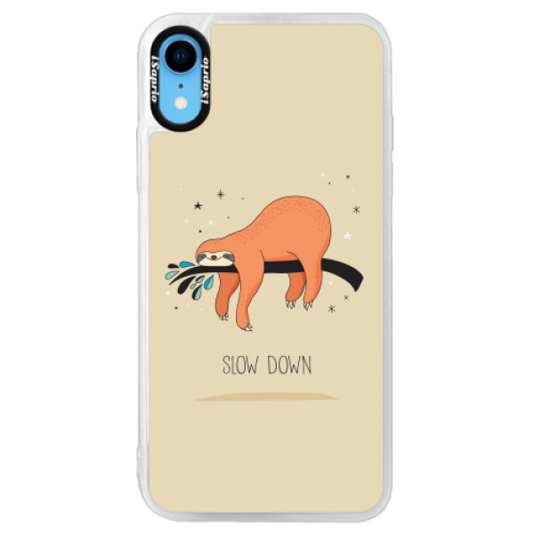 Neonové pouzdro Pink iSaprio - Slow Down - iPhone XR