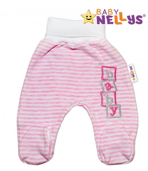Polodupačky Baby Nellys ® Baby Bear - růžový proužek - 86 (12-18m)