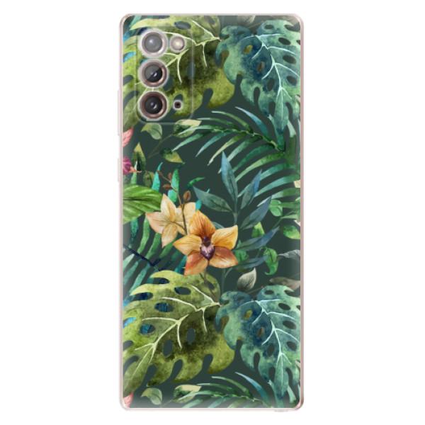 Odolné silikonové pouzdro iSaprio - Tropical Green 02 - Samsung Galaxy Note 20