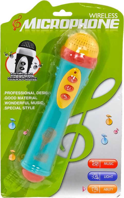 Mikrofon dětský na baterie Světlo Zvuk plast