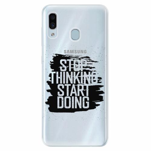 Silikonové pouzdro iSaprio - Start Doing - black - Samsung Galaxy A30