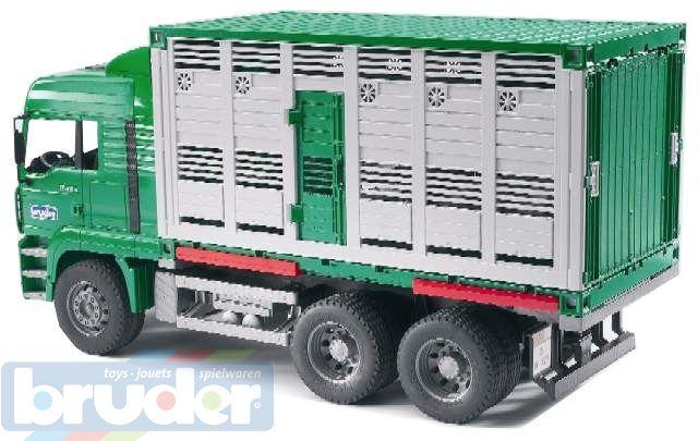 BRUDER 02749 (2749) Nákladní auto MAN - kontejner na zvířata