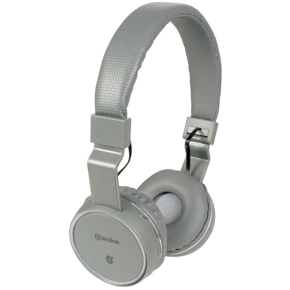 AV:link PBH-10 bezdrátová Bluetooth SD sluchátka, tmavě šedá