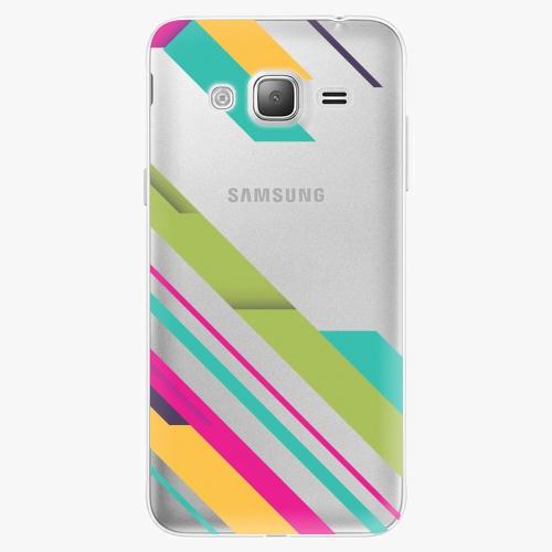 Plastový kryt iSaprio - Color Stripes 03 - Samsung Galaxy J3 2016