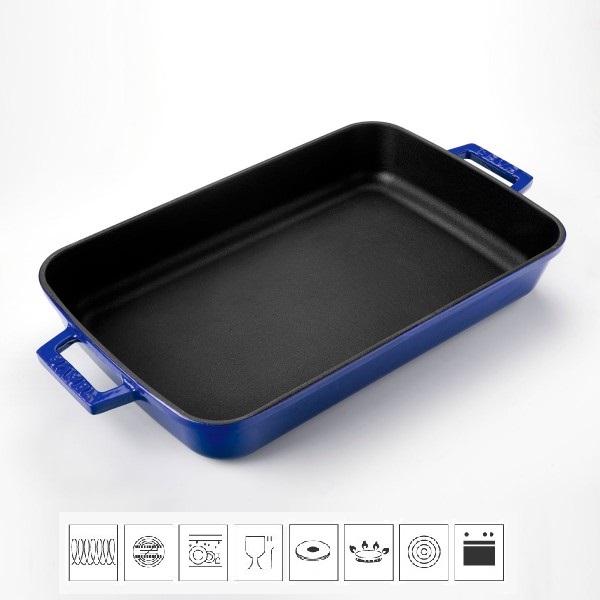 Litinový pekáč 22x30cm - modrý