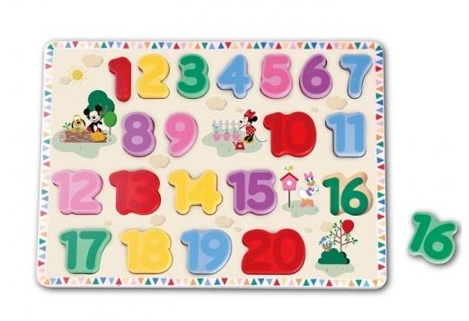 Edukační dřevěné puzzle Disney - Mickey Mouse