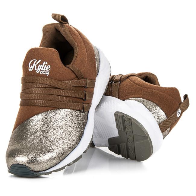 Dětské boty - tenisky K1646001CH - Kylie - Hnědá/zlatá/33