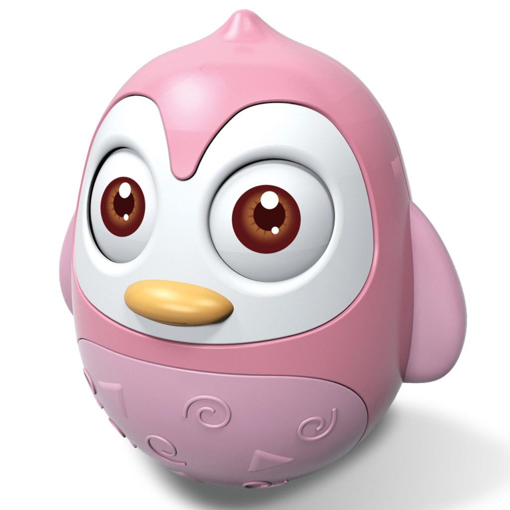 Kývací hračka Bayo tučňák pink - růžová