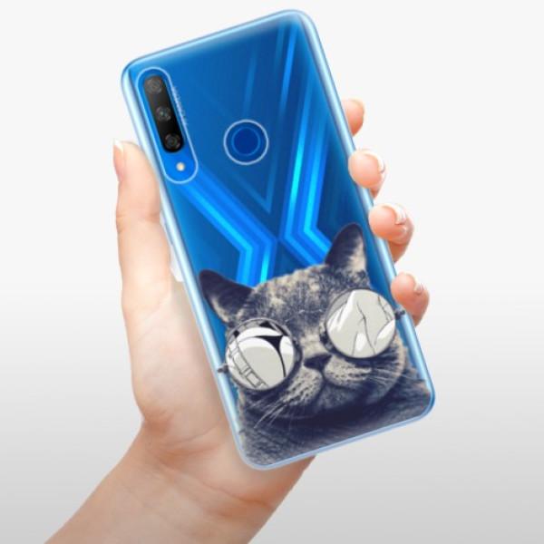 Odolné silikonové pouzdro iSaprio - Crazy Cat 01 - Huawei Honor 9X