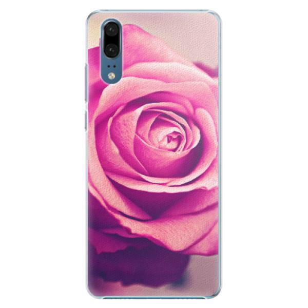 Plastové pouzdro iSaprio - Pink Rose - Huawei P20