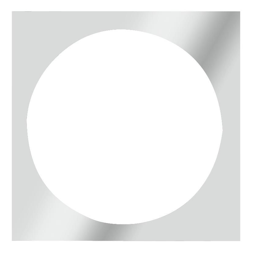 Rámeček pro PAR-46, stříbrný