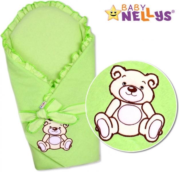 baby-nellys-zavinovacka-s-vyztuzi-teddy-bear-jersey-zelena-s-vyztuzi-zad