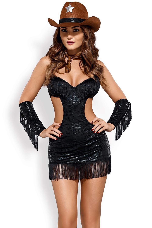 Dámský kostým Sheriffia - Černá/L/XL