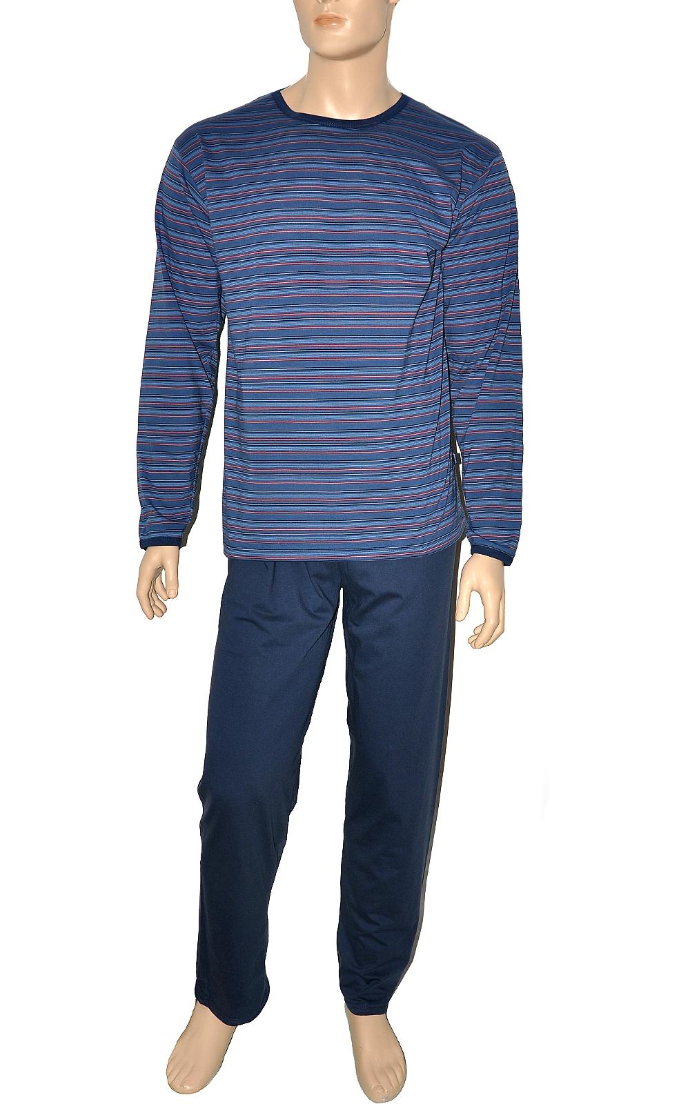 Pánské pyžamo Cornette 138/19 dl/r - Jeans/XXL