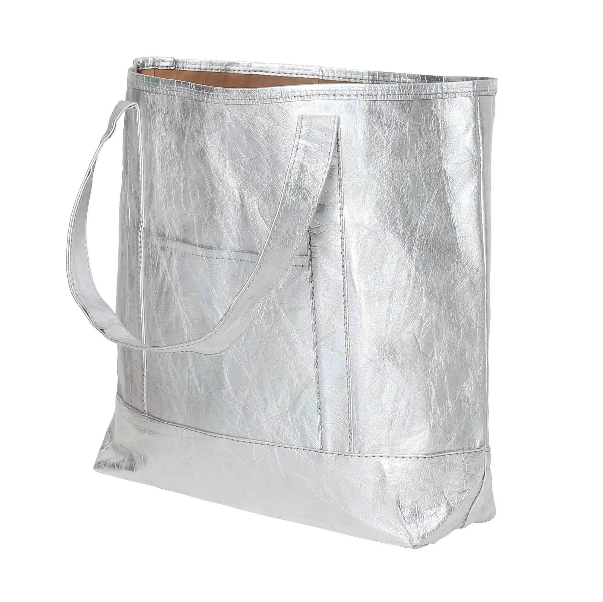 Stříbrná EKO kabelka