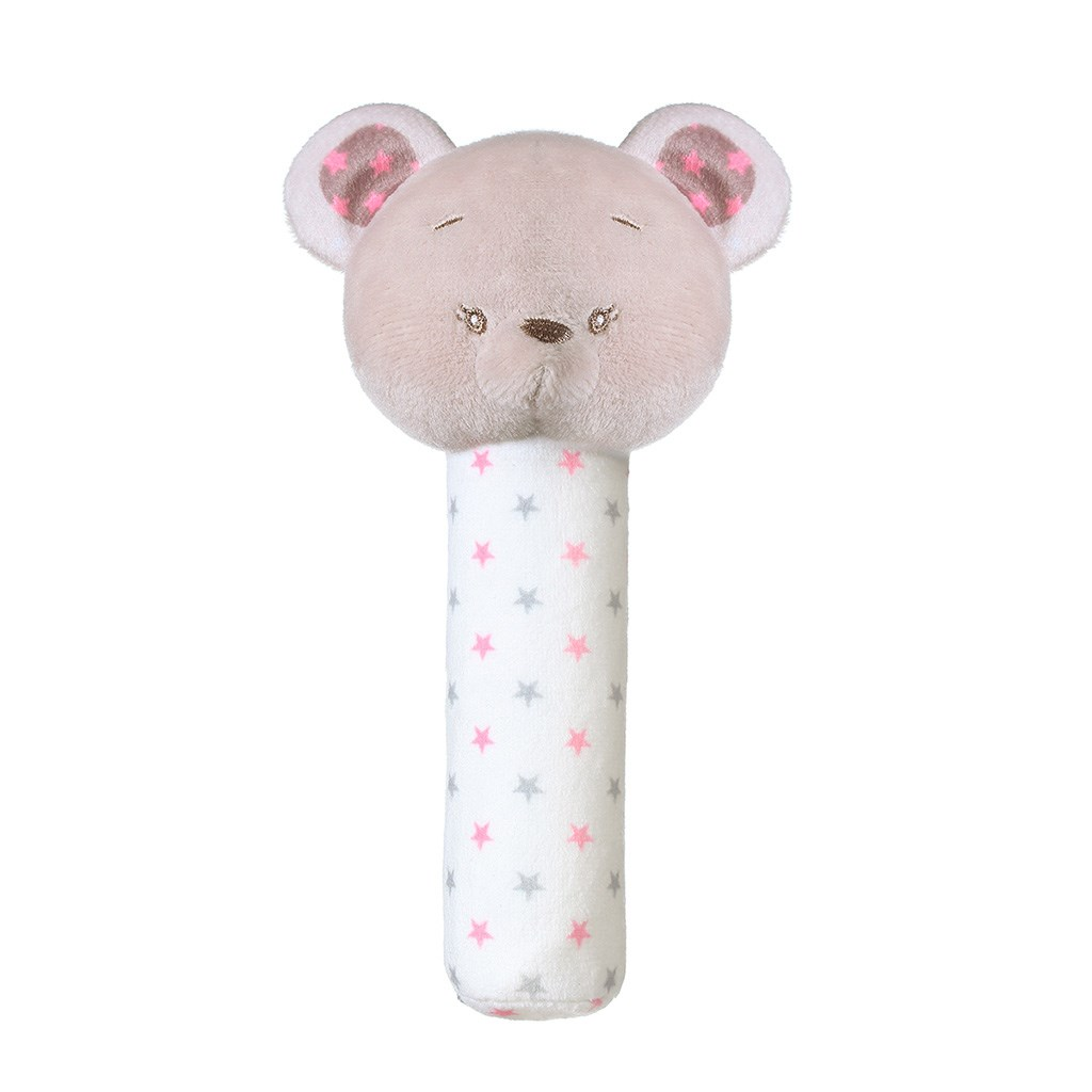 Plyšová pískací hračka Baby Ono Bear - Suzie - šedá
