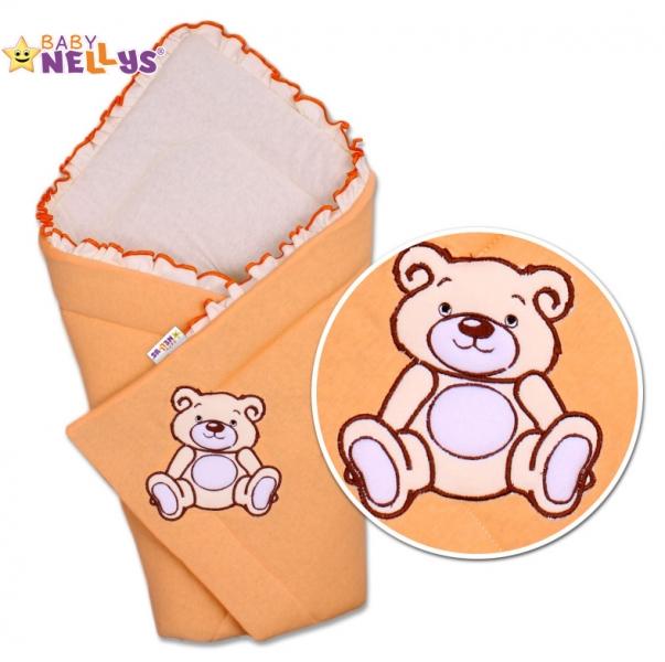 Zavinovačka Teddy Bear - velur - losos/meruňka