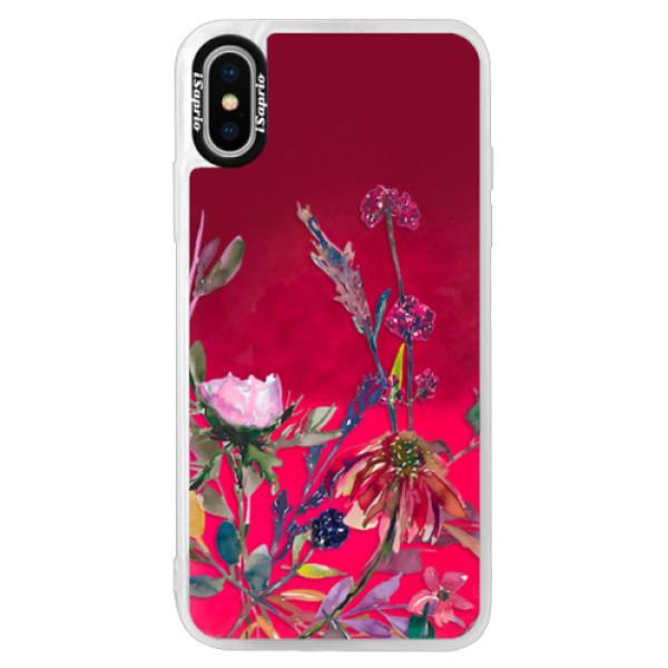 Neonové pouzdro Pink iSaprio - Herbs 02 - iPhone XS