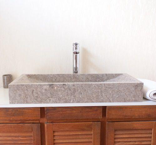 Umyvadlo z přírodního kamene IDS 005 Grey