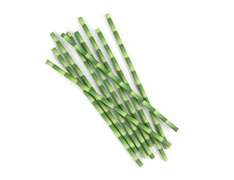 Papírová brčka - bambus