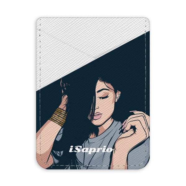Pouzdro na kreditní karty iSaprio - Swag Girl - světlá nalepovací kapsa