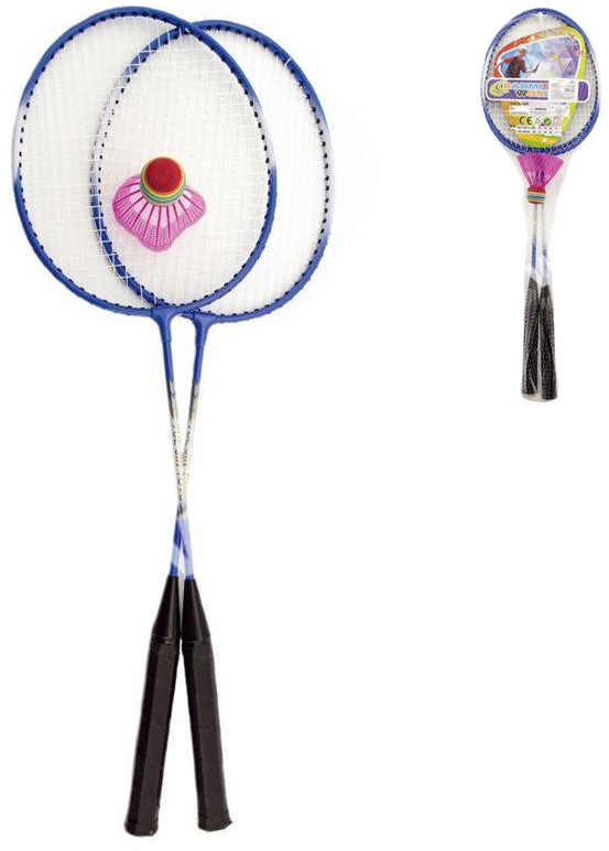 Badminton set 2 pálky kovové + míček různé barvy