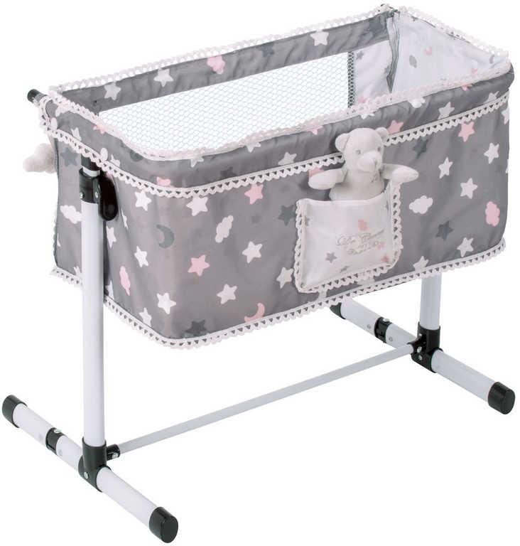 DECUEVAS Postýlka novorozenecká pro panenku miminko set s doplňky