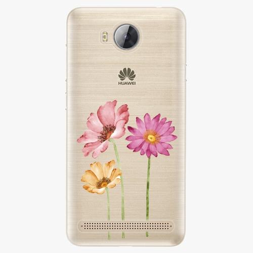 Plastový kryt iSaprio - Three Flowers - Huawei Y3 II