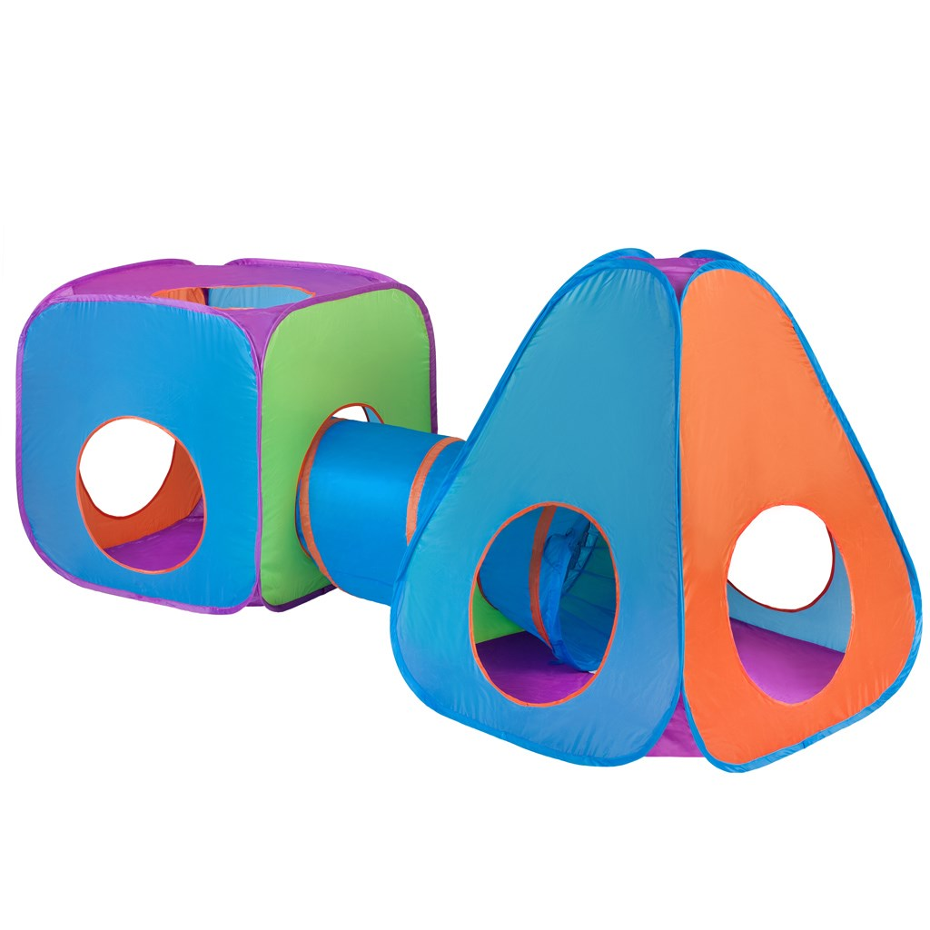 Dětský stan PlayTo 3v1 oranžovo-modrý - multicolor
