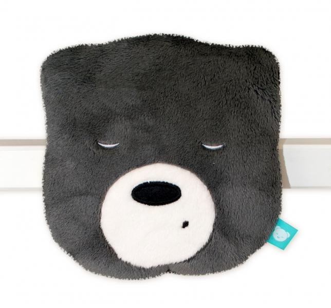 Mini šumící Medvídek - hlava - grafit