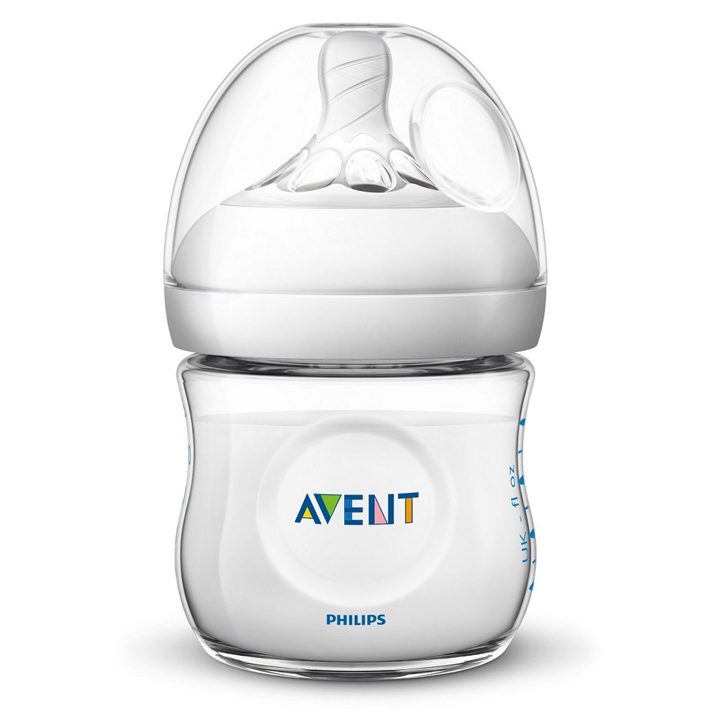 Kojenecká láhev Avent Natural 125 ml - transparentní