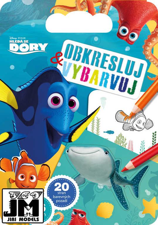 JIRI MODELS Obkresli a vybarvuj Hledá se Dory (Finding Dory)