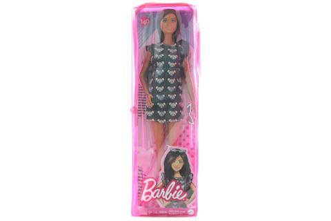 Barbie Modelka - džínové šaty s hvězdičkami GYB01