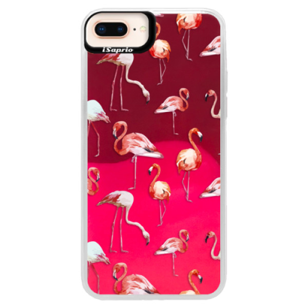 Neonové pouzdro Pink iSaprio - Flami Pattern 01 - iPhone 8 Plus