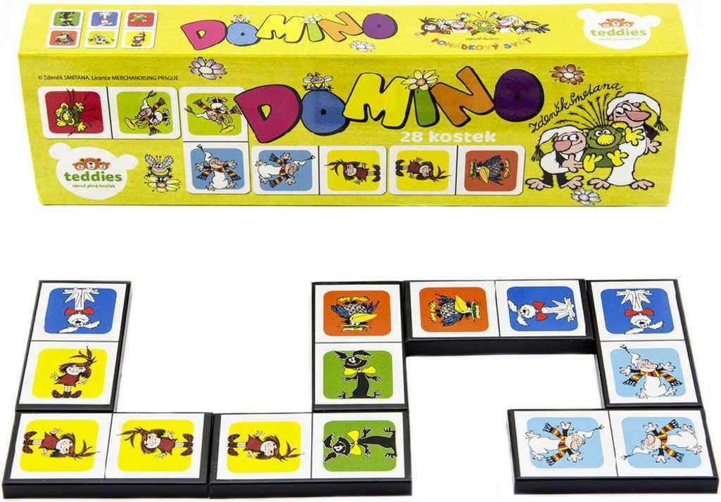 Hra domino Pojď s námi do pohádky 28 dílků ilustrace Večerníček