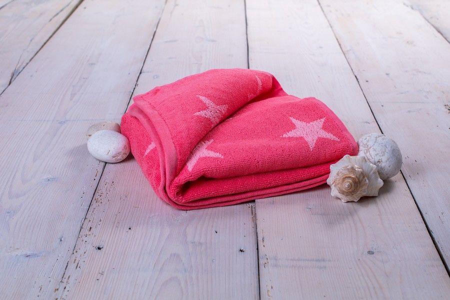 Osuška Stars - 70 x 140 cm, růžová