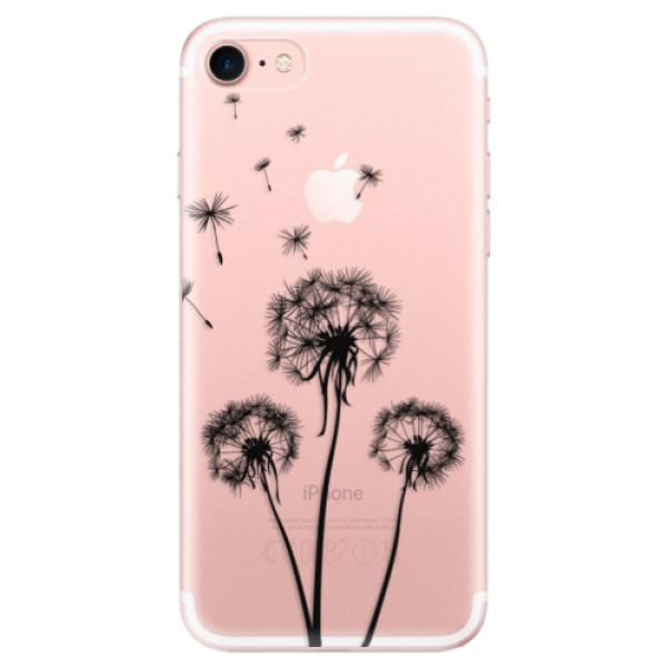 Odolné silikonové pouzdro iSaprio - Three Dandelions - black - iPhone 7