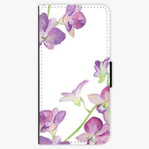 Flipové pouzdro iSaprio - Purple Orchid - Samsung Galaxy A3 2017