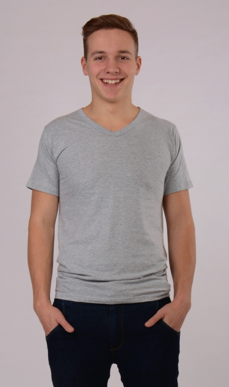 Pánské tričko Jakub - Světle šedá S