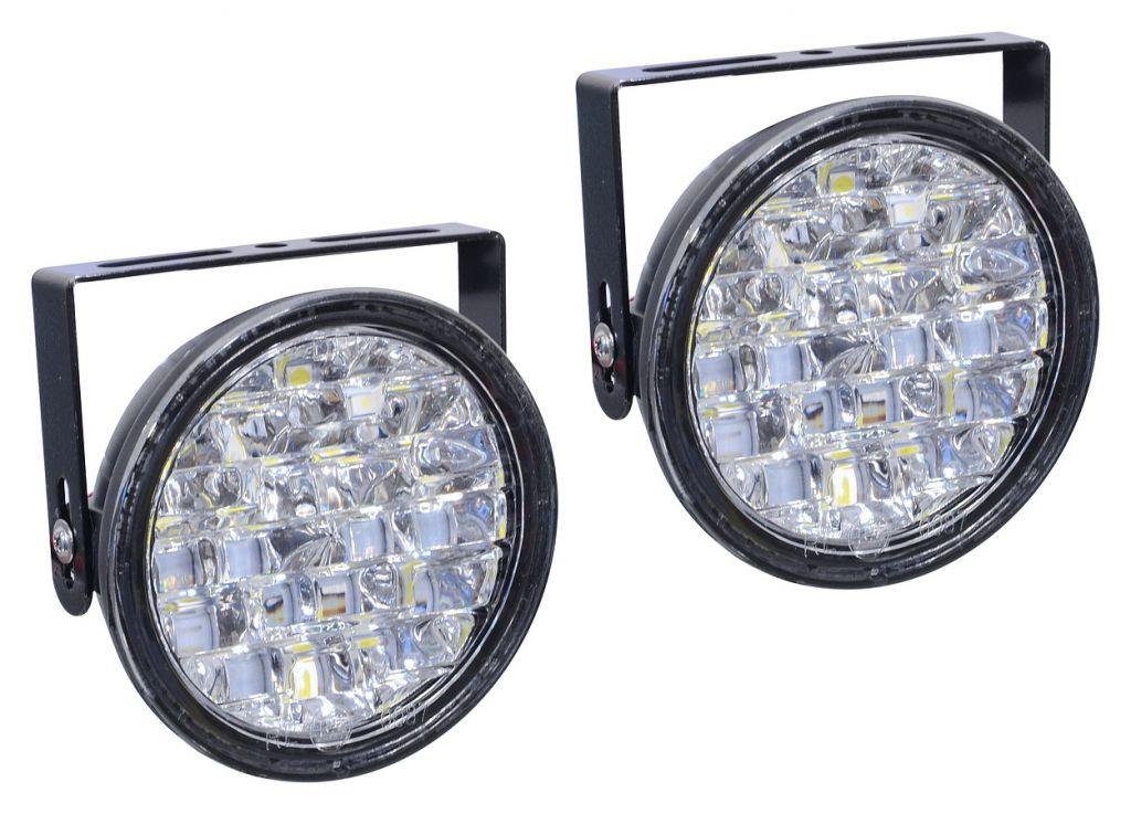 Světla denního svícení kulatá, 18 LED/12V